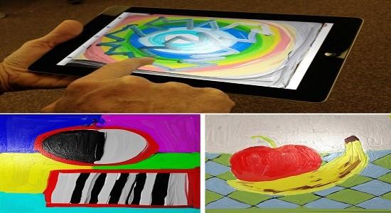 tangiPaint-с «пальцем на табличку» пользователи могут создавать цифровые картины