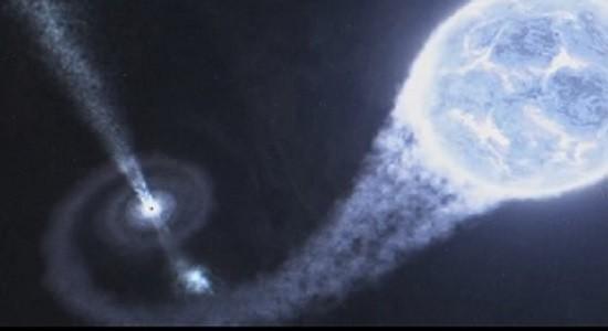 Поглощение материи черной дырой