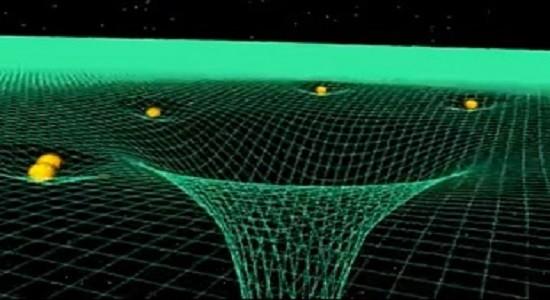 Искривление пространства под действием гравитации