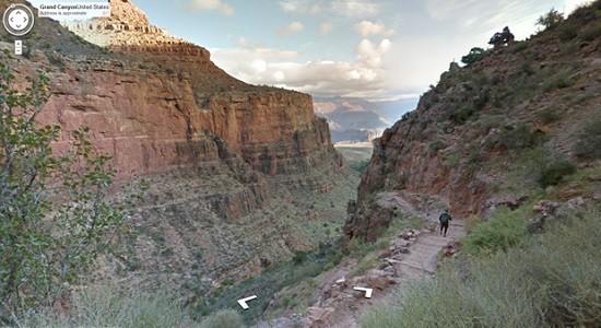 Пеший поход в большой Каньон с помощью Google Maps.
