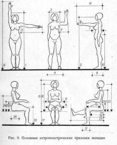 Антропометрика женщины