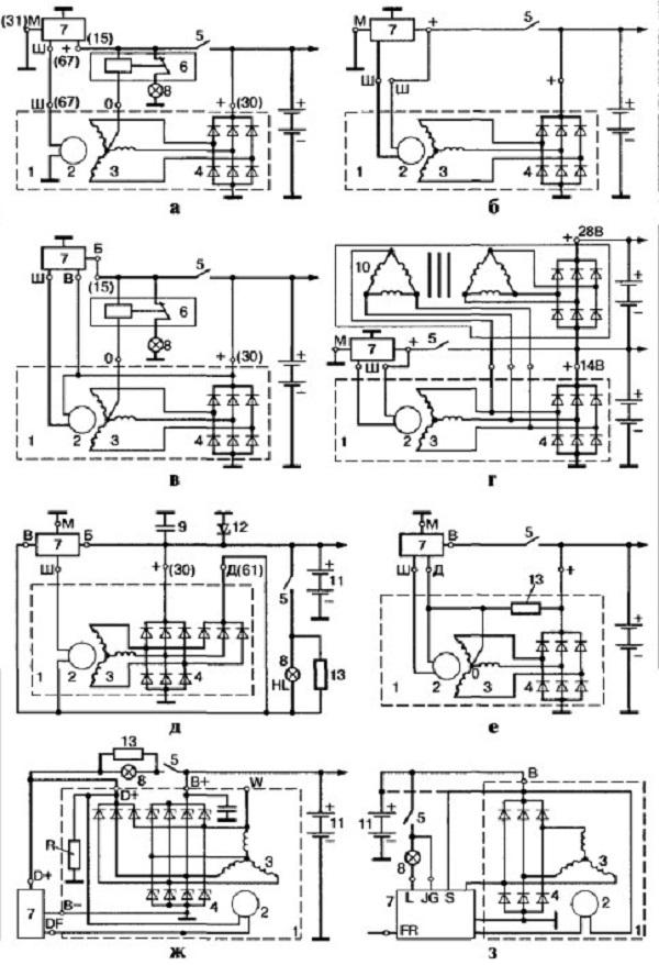 Электросхемы генераторных установок