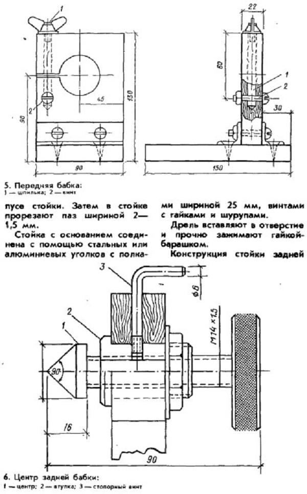 Детали станка на основе электродрели