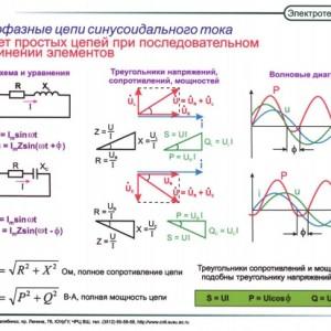 Расчет простых цепей при последовательном соединении элементов