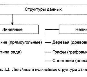 Линейные и нелинейные структуры данных